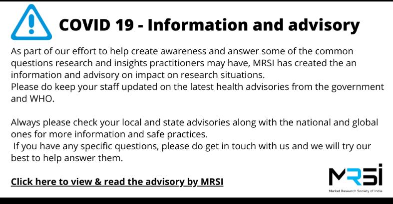 COVID 19 - Information and advisory